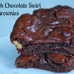 Paleo Walnut Dark Chocolate Swirl Brownies
