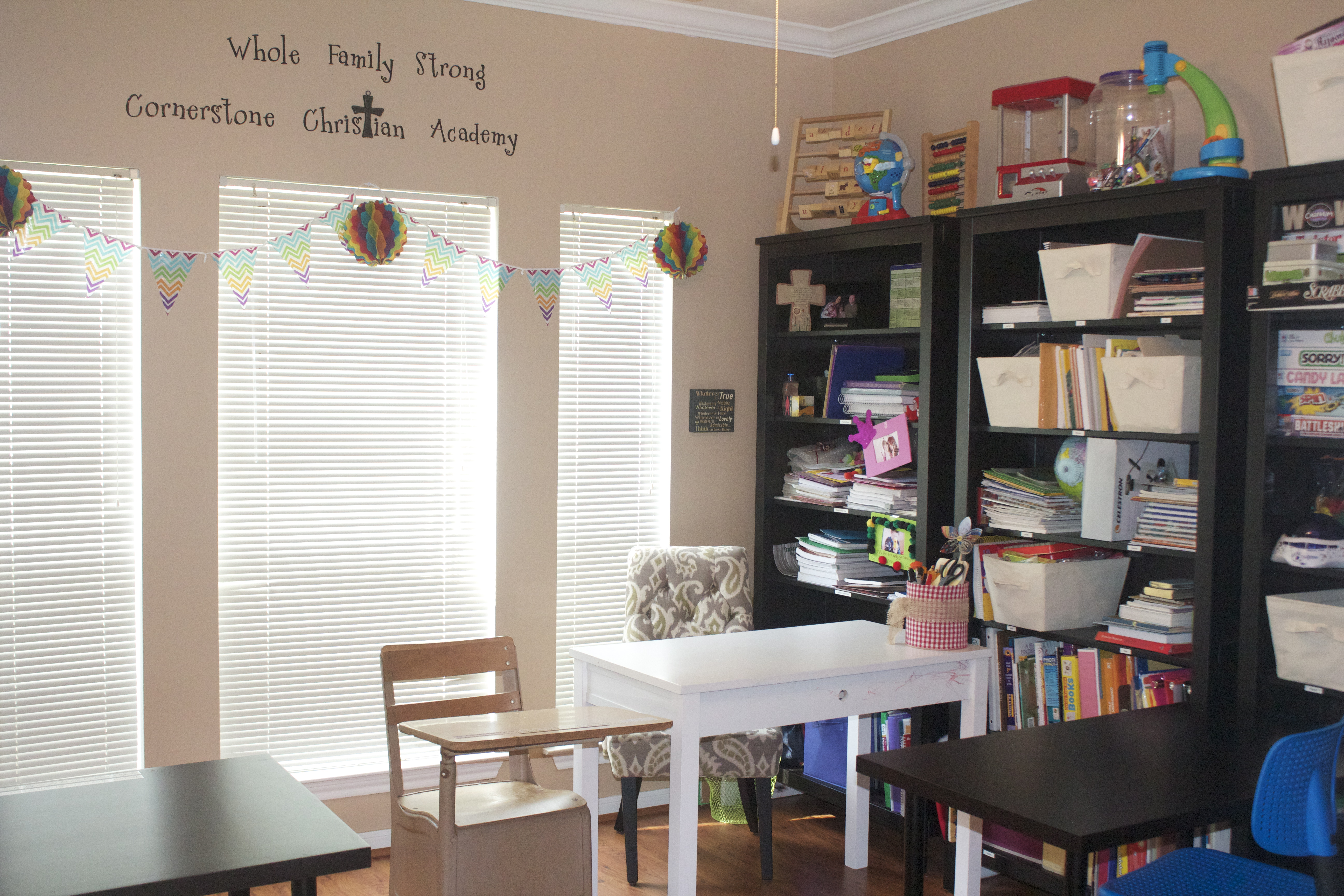Whole Family Our Homeschool Room Whole Family Strong